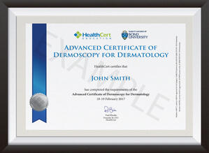 Advanced Certificate of Dermoscopy for Dermatology