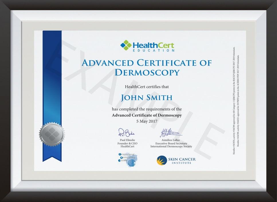 Advanced Certificate of Dermoscopy