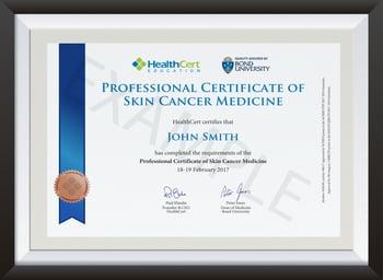 Professional Certificate of Skin Cancer Medicine - 1