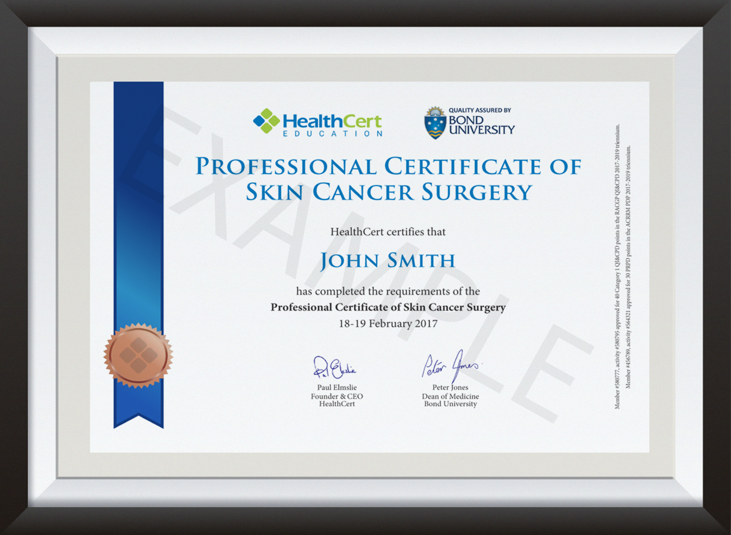 Professional Certificate of Skin Cancer Surgery - 1